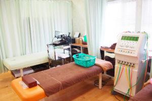 施術を受けていただく為のベッドです。